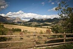 Panoramiczny widok przy górą Turbon, Hiszpania Obrazy Royalty Free