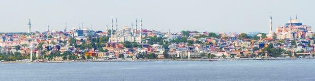 Panoramiczny widok przy Istanbuł, Turcja Zdjęcie Stock