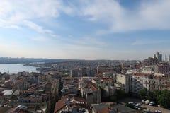 Panoramiczny widok przy Złotym Beyoglu w Istanbuł i rogiem, Turcja zdjęcia stock