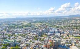 Panoramiczny widok Quebec miasta linia horyzontu Zdjęcia Royalty Free