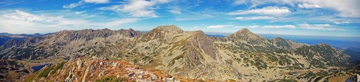 Panoramiczny widok Retezat szczyt Obraz Stock