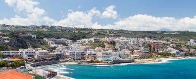 Panoramiczny widok Rethymno miasteczko fotografia royalty free