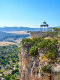 Panoramiczny widok Ronda, Przegląda platforma, Andalusia, Hiszpania fotografia stock