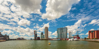 Panoramiczny widok Rotterdam holandie Fotografia Stock