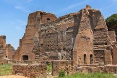 Panoramiczny widok ruiny w palatynu wzgórzu w mieście Rzym, Włochy Fotografia Royalty Free