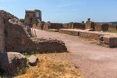 Panoramiczny widok ruiny w palatynu wzgórzu w mieście Rzym, Włochy Zdjęcie Royalty Free