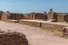 Panoramiczny widok ruiny w palatynu wzgórzu w mieście Rzym, Włochy Obraz Stock