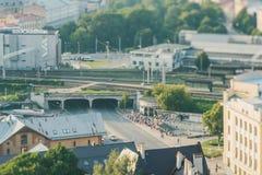 Panoramiczny widok Ryski, Latvia fotografia stock