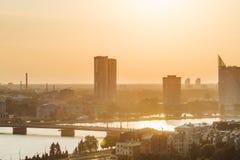 Panoramiczny widok Ryski, Latvia obrazy stock