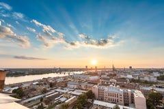Panoramiczny widok Ryski, Latvia zdjęcie royalty free