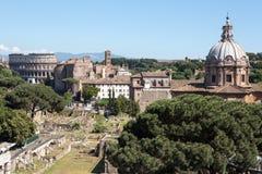 Panoramiczny widok Rzym Obraz Royalty Free
