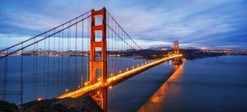 Panoramiczny widok sławny Golden Gate Bridge Fotografia Stock