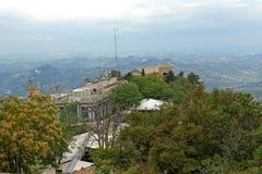 Panoramiczny widok San Marino Zdjęcie Stock