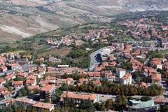 Panoramiczny widok San Marino Obrazy Royalty Free
