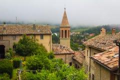 Panoramiczny widok Sant'Agata Feltria Zdjęcia Royalty Free