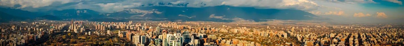 Panoramiczny widok Santiago Obrazy Royalty Free