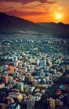 Panoramiczny widok Santiago Zdjęcia Stock