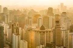 Panoramiczny widok Sao Paulo w Brazylia Fotografia Stock