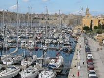 Panoramiczny widok schronienie w kapitale Valletta fotografia stock