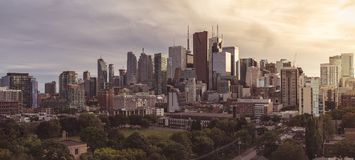 Panoramiczny widok serce Toronto Fotografia Royalty Free