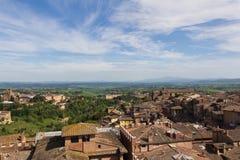 Panoramiczny widok Siena, Tusany, Włochy zdjęcie stock