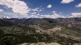 Panoramiczny widok Skaliste góry, Kolorado, usa zbiory wideo