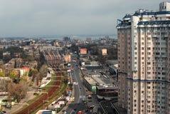 Panoramiczny widok stacja kolejowa Zdjęcie Stock