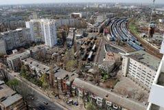 Panoramiczny widok stacja kolejowa Fotografia Royalty Free