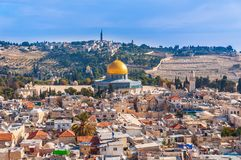 Panoramiczny widok Stary miasteczko Jerozolima zdjęcia royalty free