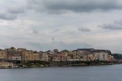 Panoramiczny widok stary miasteczko w Corfu wyspie, Grecja Fotografia Royalty Free