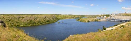 Panoramiczny widok stromi banki Południowa pluskwa Zdjęcie Royalty Free