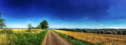 Panoramiczny widok Szwabscy średniogórza Zdjęcia Stock