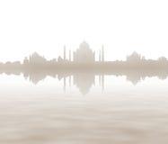 Panoramiczny widok Taj Mahal. India Obrazy Stock