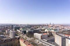 Panoramiczny widok Tallinn miasto Fotografia Royalty Free