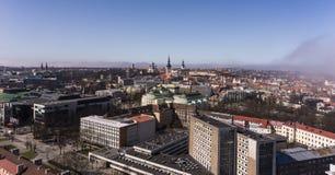 Panoramiczny widok Tallinn miasto Obrazy Stock