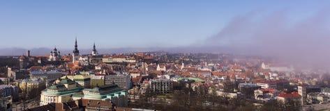 Panoramiczny widok Tallinn miasto Obraz Stock