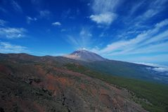 Panoramiczny widok Teide zdjęcia royalty free