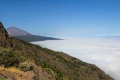 Panoramiczny widok Teide, Canarian wyspa, Hiszpania Zdjęcie Stock