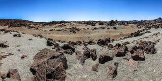 Panoramiczny widok Teide, Tenerife, Canarian wyspa, Hiszpania Fotografia Stock