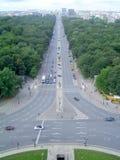 Panoramiczny widok Tiergarten park od zwycięstwo kolumny w Berlin Zdjęcie Stock