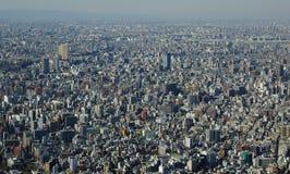 Panoramiczny widok Tokio w Japonia Fotografia Stock