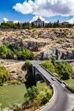 Panoramiczny widok Toledo Hiszpania na letnim dniu Fotografia Stock
