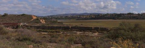 Panoramiczny widok Tylny Podpalany bagno, newport beach Obraz Royalty Free