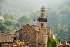 Panoramiczny widok Valdemossa w Majorka Obraz Royalty Free
