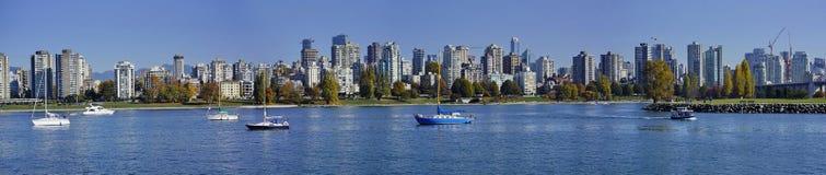 Panoramiczny widok Vancouver śródmieście obrazy royalty free