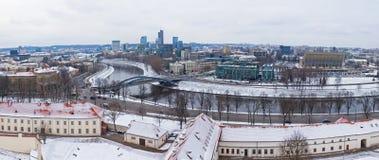 Panoramiczny widok Vilnius miasto, Lithuania Obrazy Stock