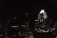 Panoramiczny widok w centrum Austin, Teksas, przy noc? zdjęcie royalty free