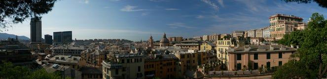 Panoramiczny widok w centrum genua, Włochy Obraz Royalty Free