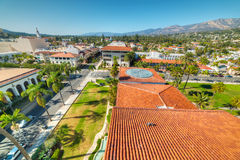 Panoramiczny widok w centrum Santa Barbara obraz stock