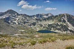 Panoramiczny widok w kierunku Vlahini jezior i Muratov Osiągamy szczyt Zdjęcie Stock